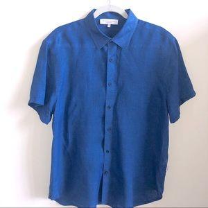 Orlebar Brown Short-Sleeve Linen Shirt